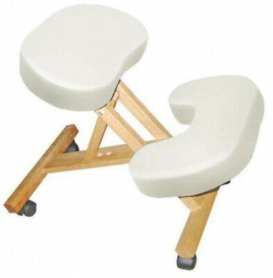 Wooden Massage Kneeling Chair Folding and Adjustable Stool for Therapist Sturdy