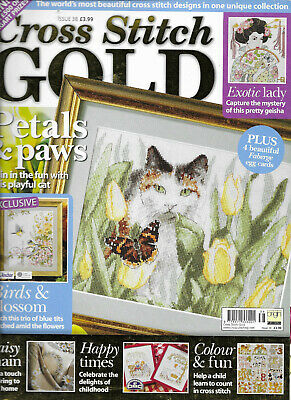 Cross Stitch Gold Issue 38 Petals & Paws Birds & Blossom Exotic Lady