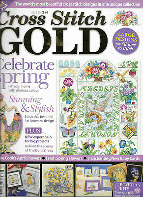 Cross Stitch Gold Issue 20 Celebrate Spring Art Nouveau  Design Baby Cards