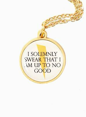 Harry Potter Officiel Wb I Solemnly Swear Éclair Carte des Maraudeurs Collier