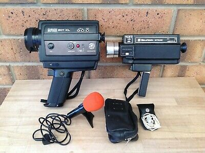 Vintage Bell And Howell & Chinon Super 8 Movie Cameras, Film, Collectable