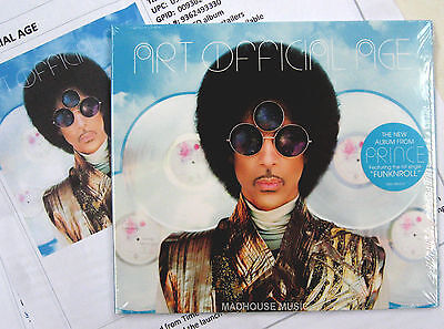 PRINCE CD Art Official Age 13 Track solo studio Album 2014 + PROMO Sheets SEALED