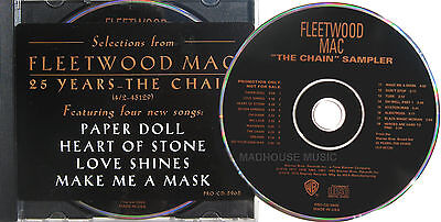 FLEETWOOD MAC Cd The Chain SAMPLER UNPLAYED USA Promo Only STICKERED Case