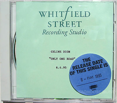 CELINE DION CD Only One Road UK Whitfield STUDIO ACETATE Uber Rare