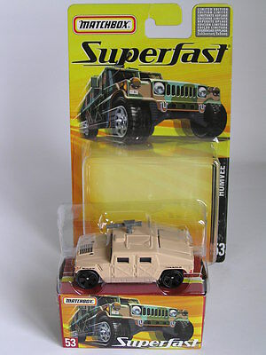 Matchbox Superfast 2005 - 1 Of 8000 #53 Humvee Hummer Rare In Tan / Mint / Boxed