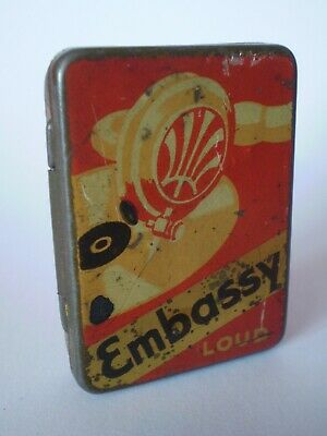 Highly Collectable Vintage Embassy Loud Gramophone Needle Tin (Empty)