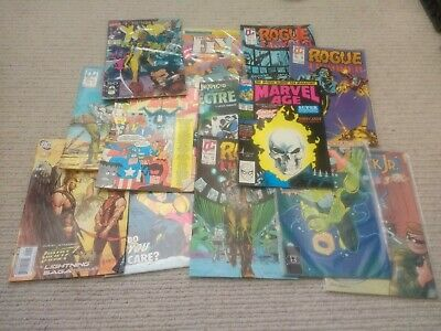 Vintage Comic Books Marvel, Xmen, DC, The Fly, Rogue Trooper Bundle Retro