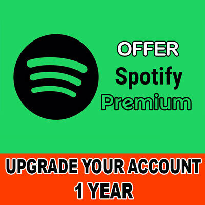 Spotify Premium Upgrade Your Personal Account For 1 YEAR (12 Months) - Worldwide