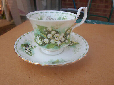 """Royal Albert Flower of the Month """" May  """" Cup and Saucer"""