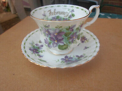 """Royal Albert Flower of the Month """" February  """" Cup and Saucer"""