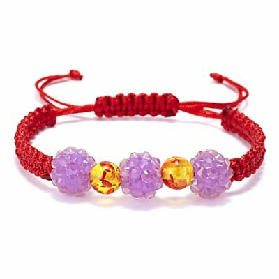 Charm Handmade Red Rope Crystal Bead Braided Bracelet Lucky String Jewelry Gift
