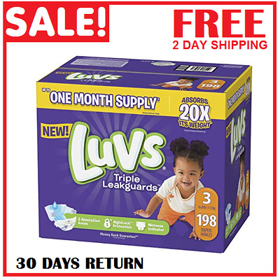 Luvs Ultra Leakguards Baby Diapers Size 1 2 3 4 5 6 Fast Free Shipping
