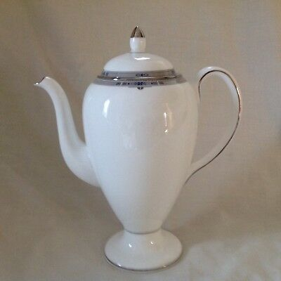 Wedgwood Amherst Platinum Coffee Pot Excellent Condition First Quality