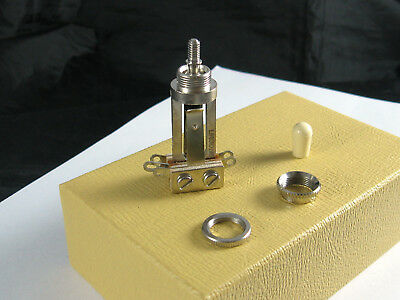Switchcraft Toggle Switch Tall w/ Flat & Recessed Nut