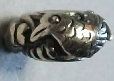 Genuine Sterling Silver TROLLBEADS CHINA 2009 LTD EDITION PIG,CHICK & BADGER.New