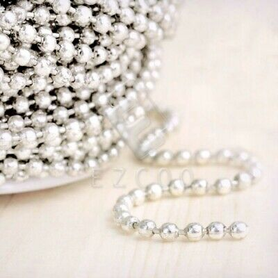 4m Unfinished Bulk Chains Necklace Silver Ball Chain Wholesale 2.4x2.4mm YB
