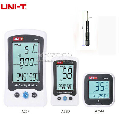 UNI-T Air Quality Detector Formaldehyde PM2.5 Monitor Meter Laser Temp/Humidity