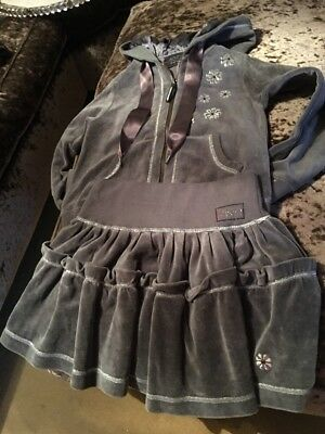 I Pinco Pallino Girls Two Piece Outfit Age 8 Grey Velour Harrods Was Over £200