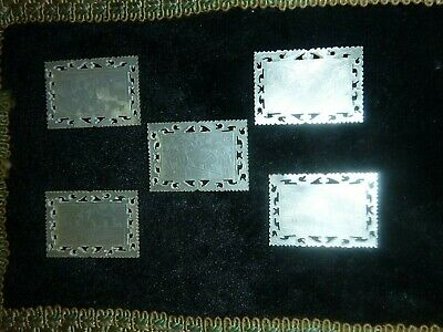 5 Vintage / Antique Chinese Mother Of Pearl Gaming Counters