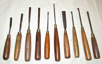 carving chisels gouges 10 vintage woodcarving chisels tools old woodworking tool