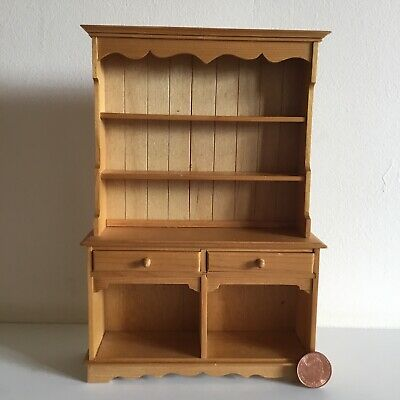 Dolls House 1:12 scale miniature pine style welsh dresser kitchen