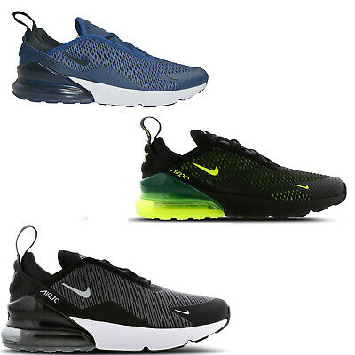 ORIGINAL JUNIOR KIDS NIKE Air Max 270 TRAINERS BLACK VOLT