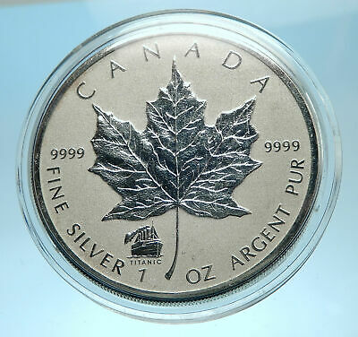 2012 CANADA UK Queen Elizabeth II MAPLE LEAF 1 OZ Genuine Silver $5 Coin i77551