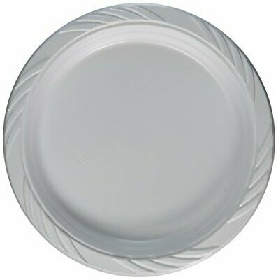 Extra Strong White Disposable Plastic Plates 10 inch 26cm Large - Pack of 50 ,