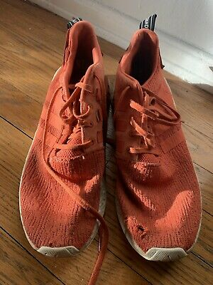 2851516c9 Adidas NMD R2 Boost Running Shoes Harvest Orange White BY9915 Men s Size 12  NWOB