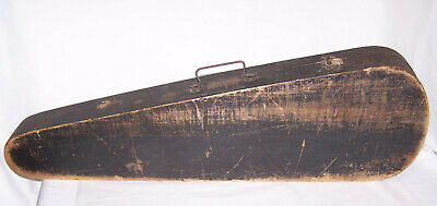 Antique G&B Wood Coffin Fiddle Violin Case w/Inserts