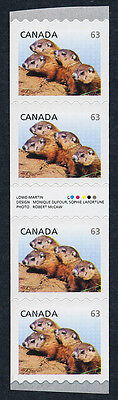 Canada 2692i Gutter Pair Coil Strip MNH Woodchucks