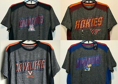 NEW COLLEGIATE MEN'S Polyester T-shirt NCAA Tee Shirt College Sports Poly  Shirts