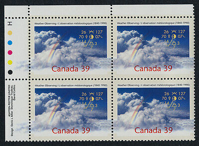 Canada 1287 TL Plate Block MNH Weather Observing