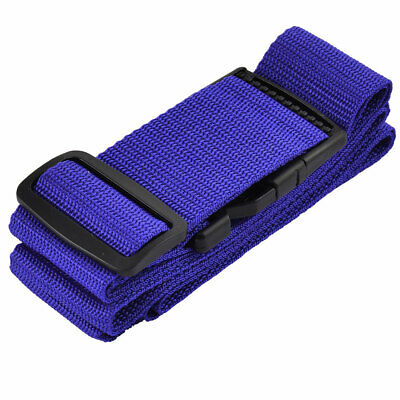 Nylon Non-Slip Adjustable Travel Luggage Strap Belt Blue 200cm for Suitcase