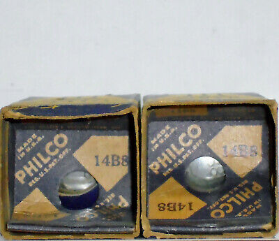two PHILCO Type 14B8 Pentagrid Converter Tubes : original unopened cartons