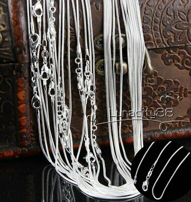1MM/2MM 925 Silver Plated Classic Snake Rolo Necklace Chain Wholesale Price Au
