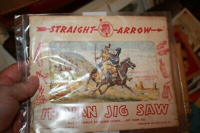 Straight Arrow Indian  Puzzle 1949 National Biscuit Company Original Wrapper