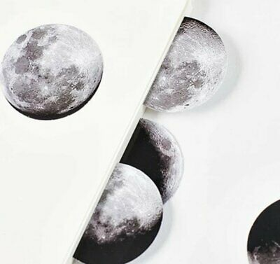 46 Pack of Moon Phase Stickers Night Sky