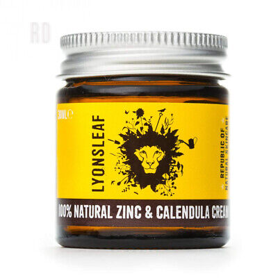 Zinc and Calendula Cream 100% Natural - for Spots, Blemishes, breakouts,...