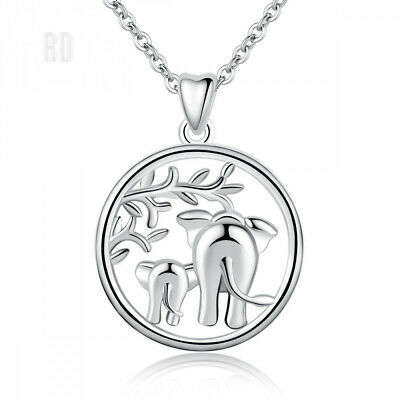 Silver Necklaces for Women, 925 Sterling Lucky A: Elephant