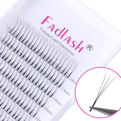 360d5e467d4 Russian Lashes Trio 3D 0.10mm C Curl Cluster Individual Eyelash Extensions.