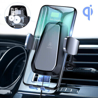 VANMASS Motorized Wireless Car Charger, 10W Qi Fast Charging Phone Holder,...