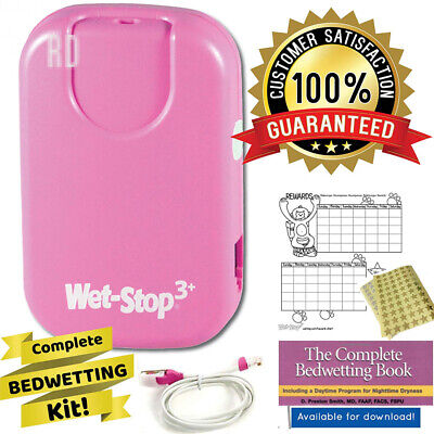 Wet-Stop 3 Pink Bedwetting Enuresis Alarm with Sound and Vibration, Moisture...