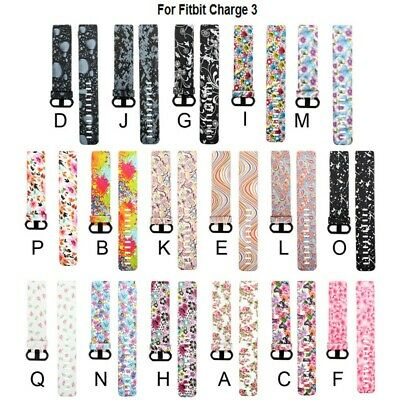 For Fitbit Charge 3 Replacement Fashion Wrist Band Silicon Strap Bracelet