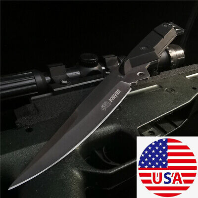 """9.5"""" Fixed Blade Knife Durable Camping Hunting Survival Tactical Straight Knive"""