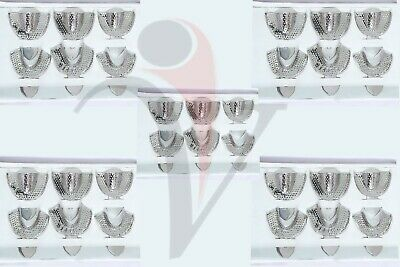 50 Sets Dental Impression Trays Autoclavable Metal Perforated Stainless Steel
