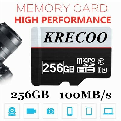 256GB Flash Memory Card Micro SDHC XC TF Class 10 UHS-1 for Camera/Phone/Tablet