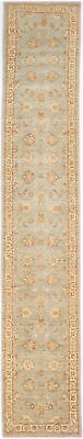 Traditional Hand Knotted Chobi Runner Area Rug Grey/Beige Persian Rug (2.5 x 15)