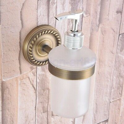 Antique Brass Soap Dispenser Bathroom Kitchen Sink Liquid Pump Bottle fba262