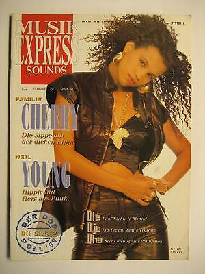 Musik Express Sounds 1990 # 2 - Neneh Cherry Neil Young Phillip Boa Fish